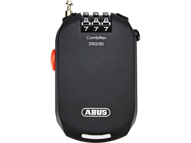 ABUS Combiflex Pro 2502 Kłódka z linką zwijaną Szyfrowy, black